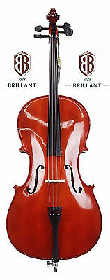 BRILLANT Premium Student II 4/4 Cello Outfit with Bag, Bow and Rosin Full Size