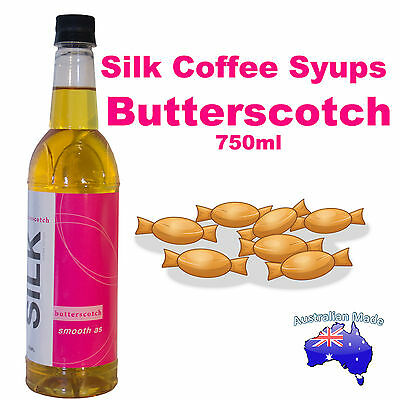 Silk - Butterscotch Coffee Syrup Syrups Flavour 1 x 750ml Bottle - Free Postage