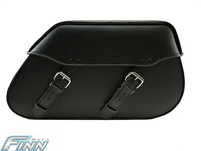 102 Tek Leather Motorcycle Saddle Bags Full Solid Universal Fit HD Softail