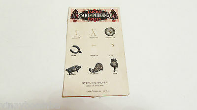 Vintage Lucky Baked Goods Promotional Prizes Sterling Silver Tokens Cake Pudding