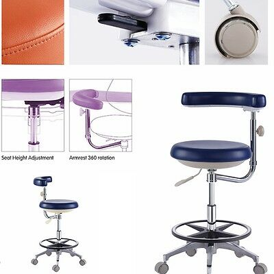 Mobile Dental Nurse Stools Medical Dentist Chair Surgical DRS' Stools PU Leather