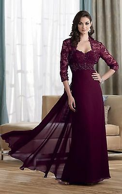 Custom Lace Half Sleeve Jacket Mother Of the Bride Dresses Chiffon Evening Gowns