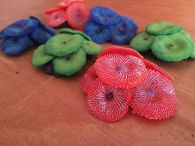 Marine Aquarium Mushroom Colony Coral Frag Structure Faux Ornament SPS LPS Soft • EUR 9,31