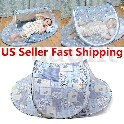 Portable Baby Kids Summer Mosquito Foldable Tent Home Travel Net Bed Crib Shade