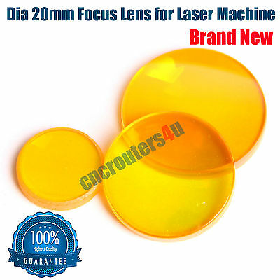HQ 1 PC Dia 20mm ZnSe Focus Lens CO2 Laser Cutting Engraving Machine FL 2.5''