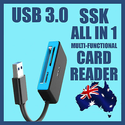 100%Genuine SSK Multi-functional USB3.0 High Speed All-in-one Memory Card Reader