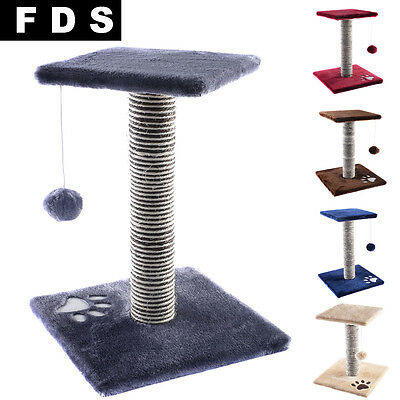 Fds New Cat Scratching Post Tree Kitty Play Palace Rest Nap Bed Pet Furniture