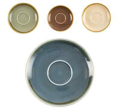 6 x Kiln Crockery Artisan Rustic Saucer 160mm for 340ml Cup- 4 colours available