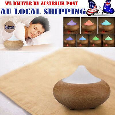7 Color Wood Essential Oil Ultrasonic Air Humidifier Aroma Diffuser Aromatherapy