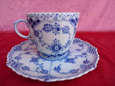 Beautiful, antique Collection cup__cup with saucer__ copenhagen__Fluted____