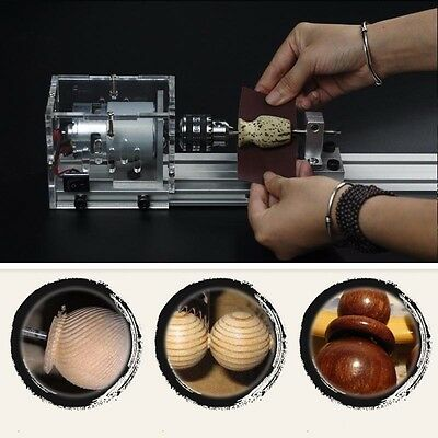 DIY Woodworking Mini Lathe Beads Polisher Table Saw Cutting Drill Rotary Tool