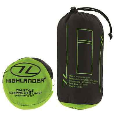 Highlander YHA Sleeping Bag Liner Green