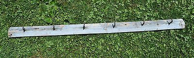 "Moving sale PRIMITIVE Gray Wood With RUSTY SHARP IRON HOOKS  ""OLD"" Free Shipping"
