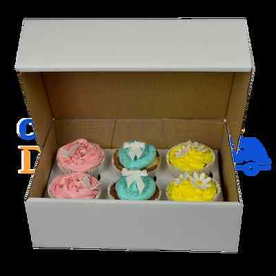 50 X 6 Corrugated Cupcake Box  Free Next Day Delivery