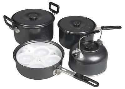 Kampa Gastro Non Stick Lightweight Camping Cook Set - Stacking Saucepan Set