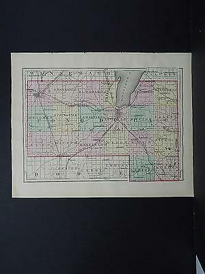Wisconsin, 1876, County Map Double Sided, M1#23 Fond du Lac or Marquette