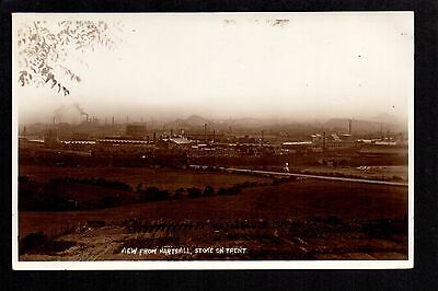 Stoke on Trent from Hartshill - real photographic postcard