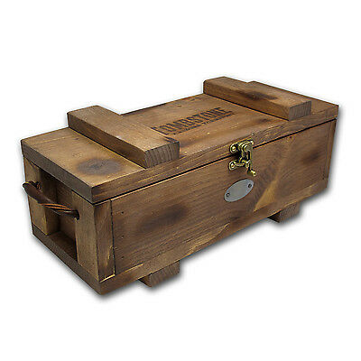 Tombstone Wood Storage Box for Silver Bars - SKU #83872