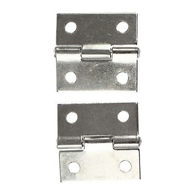 "25 x 20x 5mm/ 1"" x 0.8"" Gray Metal 1"" Small Butt Hinge for Cabinet Drawer ED"