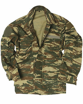 Genuine Greek Army Issue Surplus Military Combat Camo Field Jacket - Unissued