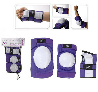 XQ Max Skate Skating Skateboard Pads Triple Set Elbow Knee Wrist Protective Guar