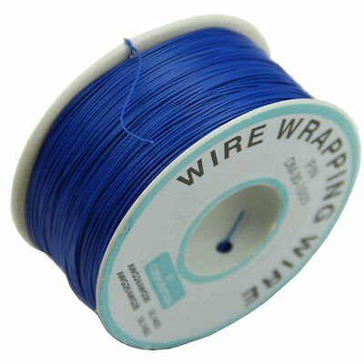 0.25mm Wire-Wrapping Wire 30AWG Cable 305m New (Blue) ED
