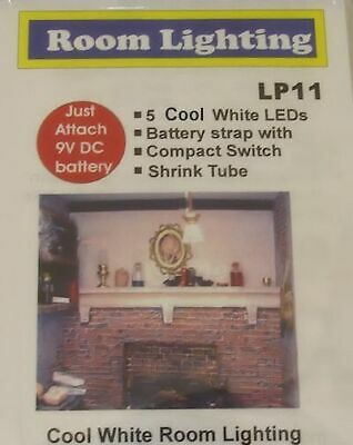 Micro Mini Lighting - 5 Cool White LEDs 9v Battery Operated Dollhouse Miniatures
