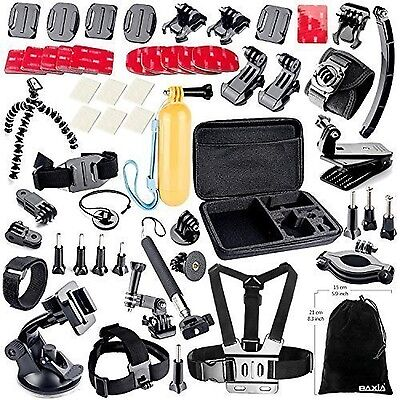 BAXIA Camera Accessories Set Kit Pack for GoPro HERO 4 3+ 3 2 Black Silver Mount
