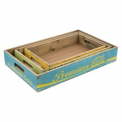 NEW Casa Uno Wooden Drink Tray (Set of 3)
