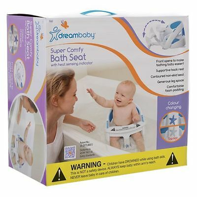 NEW Dreambaby At Home Padded Premium Deluxe Bath Seat with Heat Sensor