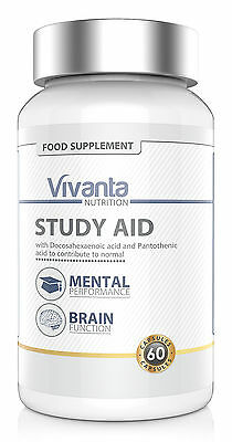 Study Aid: Mental Performance. Brain, Concentration, Learning, Memory | 60 Pills