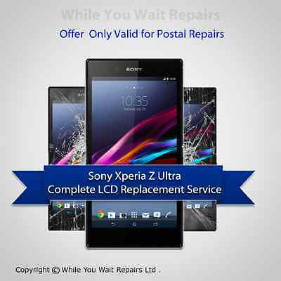 Sony Xperia Z ULTRA LCD GLASS SCREEN TOUCH REPLACEMENT REPAIR SERVICE