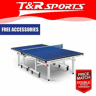 16Mm Table Tennis/ping Pong Table; Black Surface; Free Bats,balls & Net