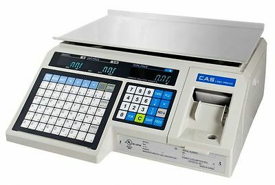 "CAS LP-1000N  NTEP Label Printing, Market, Deli, Food Scale & Labels ""Brand New"""