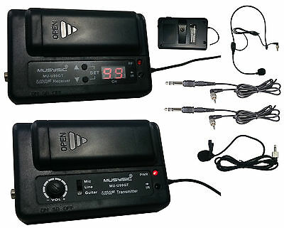 MUSYSIC Professional UHF Wireless Microphone System for Guitar, Camera,Camcorder