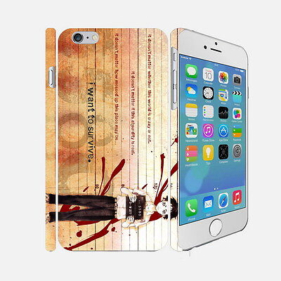 F025 Deadman Wonderland - Apple iPhone 4 5 6 Hardshell Back Cover Case