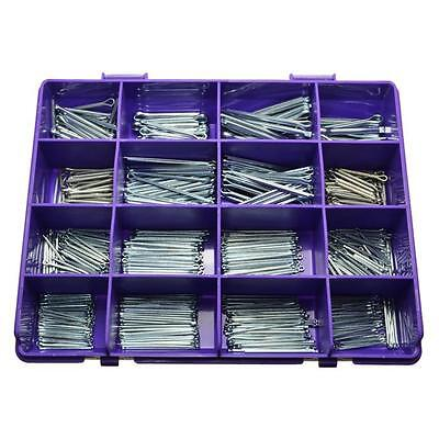 2 Kits of 715pces Exakit Cotter Pin 1.6mm 2mm 2.5mm 3.2mm 4mm 5mm Zinc #E16