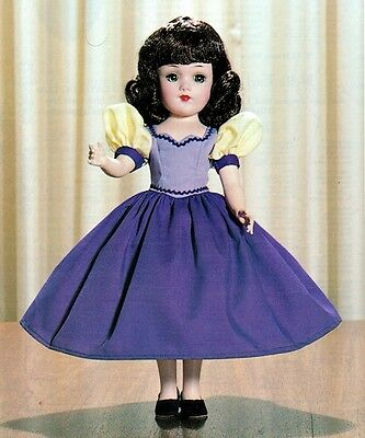 "Mary Hoyer Vintage Doll Clothes Pattern 14"" Snow White Dress Outfit"