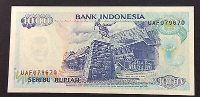 1992 1000  Rupiah UAF 079670  circulated condition