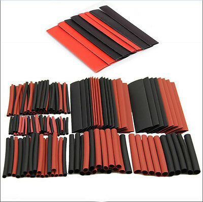 150PC Assorted 2:1 Polyolefin Heat Shrink Tubing Tube Sleeve Wrap Wire Cable Kit