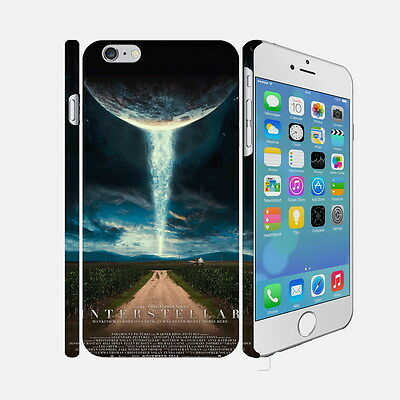 F052 Interstellar - Apple iPhone 4 5 6 Hardshell Back Cover Case