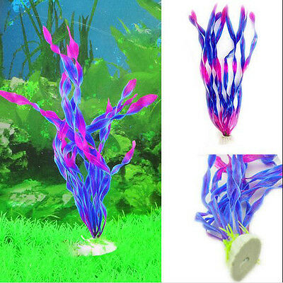 Plastic Aquarium Plants Purple Water Ornament Plant Fish Tank Decoration supply