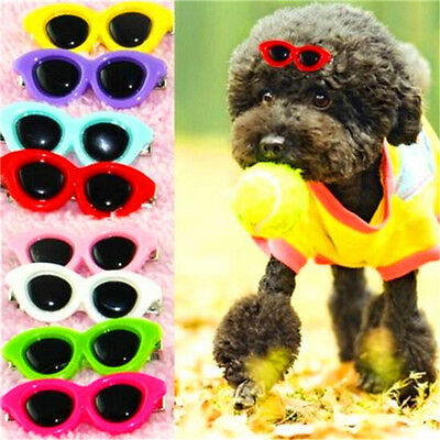 FD3719 Pet Dog Hair Bows Pet Hair Clips Doggie Boutique sunglasses groomings x1♫