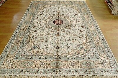 6'x 9' Traditional Handmade Hand Knotted Silk Oriental Persian Area Rug Carpet