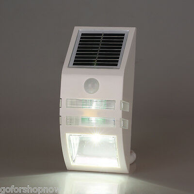 Excelvan Solar Power Motion Activated Outdoor White LED Walkway path Wall Light