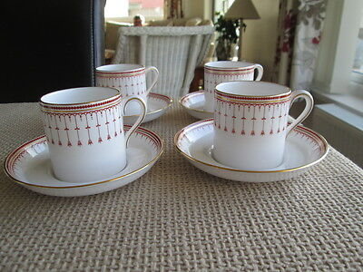 Set Of 4  Spode Kensington Y8051 Small Coffee Cups / Cans & Saucers