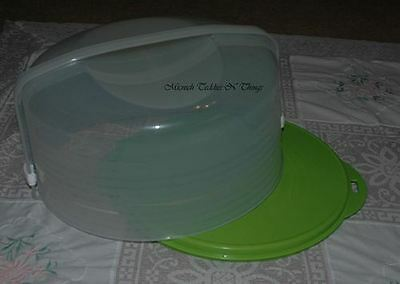 Tupperware Round Cake Taker Lime Green
