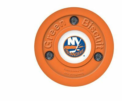 NEW OFF ICE TRAINING GREEN BISCUIT New York Islanders PUCK