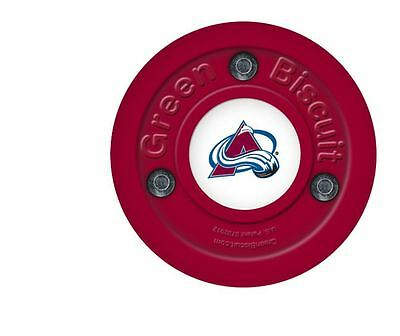 New OFF ICE TRAINING GREEN BISCUIT Colorado Avalanche PUCK
