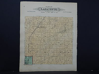 WIsconsin, Walworth County Map, 1891 Lafayette Township L21#53